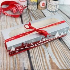 Red & Silver Christmas Design Mince Pie Boxes
