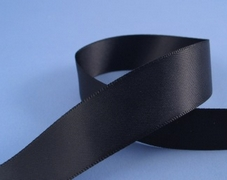 1m Length Of Satin  Black Ribbon