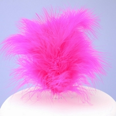 Cerise Feather Cake Top & Small Plastic Pick