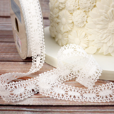 Winter White Crochet Effect Lace Trim