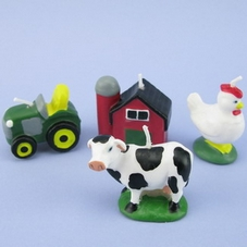 Set Of 4 Farm Candles