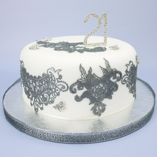 Claire Bowman Silver Cake Lace Ready Made Mix - image 2
