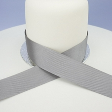 1m Length Of Grey Grosgrain Ribbon - image 2