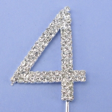 Silver Diamante Single Number On  Wire With Pick - image 2