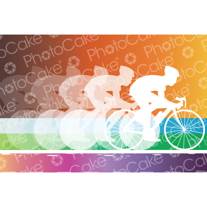 PhotoCake Cycling Printed Edible Cake Topper (NO PHOTO) - image 2
