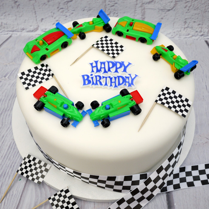 Surprising Racing Cars Birthday Cake Decoration Set Funny Birthday Cards Online Alyptdamsfinfo