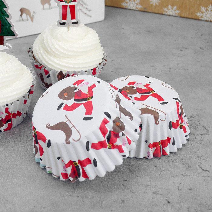 PME Santa & Sleigh Cupcake Cases (Boxed Pack Of 30) - image 2