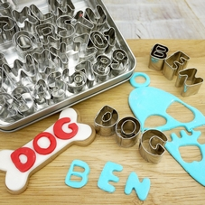 Set Of 36 Metal Alphabet & Number Cutters In A Tin - image 2