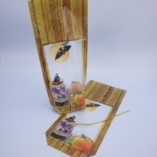 Pack Of 6 Halloween Treat Bags With Pumpkin, Bat & Witch Design - image 2