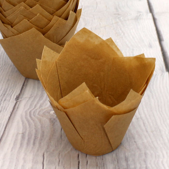 Pack Of 50 Caramel Tulip Muffin Wraps - image 2