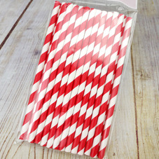 Pack Of 25 Red & White Candy Stripe Cake Pop Straws - image 3