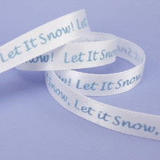 'Let It Snow' White Ribbon With Blue Wording - image 3