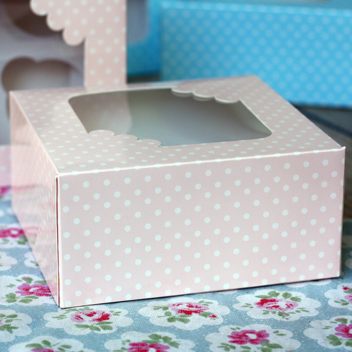Club Green 4 Cav PINK & WHITE Spot Cupcake Boxes (Pack of 2) - image 3