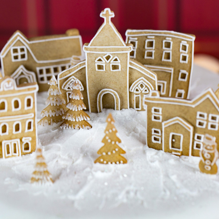 Karen Davies Winter Village Mould - image 3