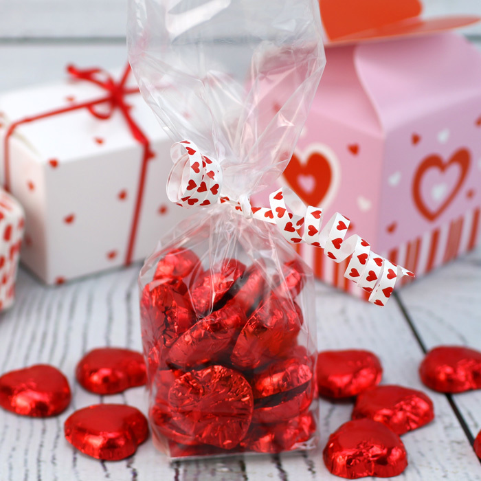 Milk Chocolate Hearts In Red Foil - image 3
