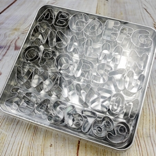 Set Of 36 Metal Alphabet & Number Cutters In A Tin - image 3
