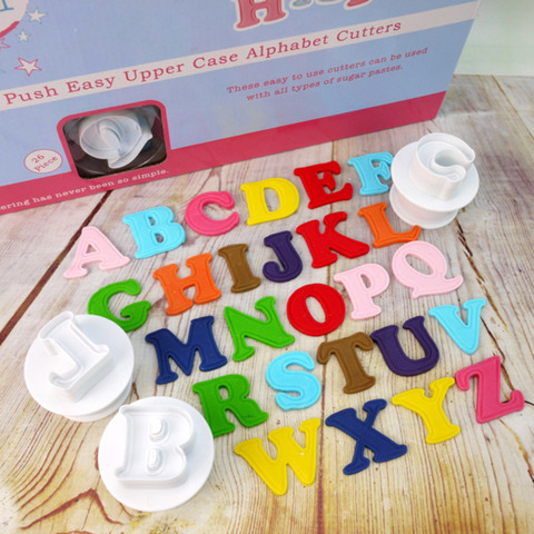 Cake Star Push Easy Upper Case Alphabet Cutters