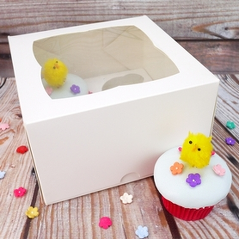 Deep Cupcake Box With Insert (4 Cavity)