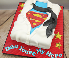 How To Make Youre My Hero Superman Cake